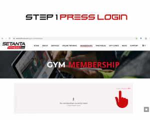 Step 1 Website Login